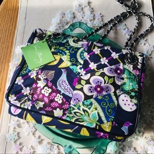 Vera Bradley Floral Nightingale Chain Handbag